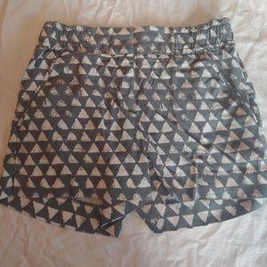 Loft shorts. Size 00. Grey and white.